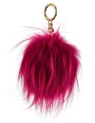 MICHAEL Michael Kors Fuchsia Keychain In Fox Fur