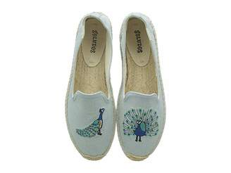 Soludos Peacock Embroidered Smoking Slipper Women's Slippers