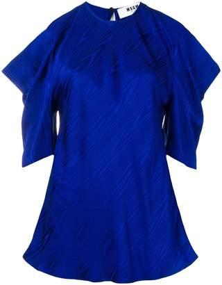 MSGM cut-out shoulder blouse
