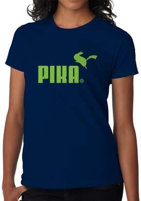 Pokemon Blue Bubble Tees BBT Womens Pikachu Puma Parody T-Shirt Tee S
