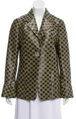 Edun Checkered Notch-Lapel Blazer w/ Tags Black Checkered Notch-Lapel Blazer w/ Tags