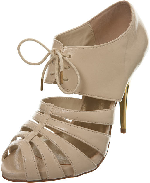 Nude Metallic Heel Shoe