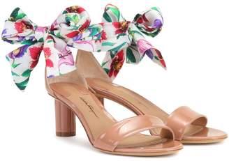 Salvatore Ferragamo Tursi 50 patent leather sandals