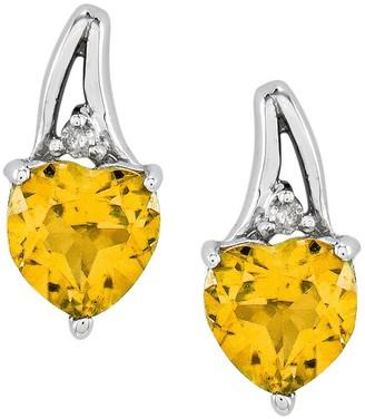 Sterling Choice of Heart-Shaped Gemstone Earrings