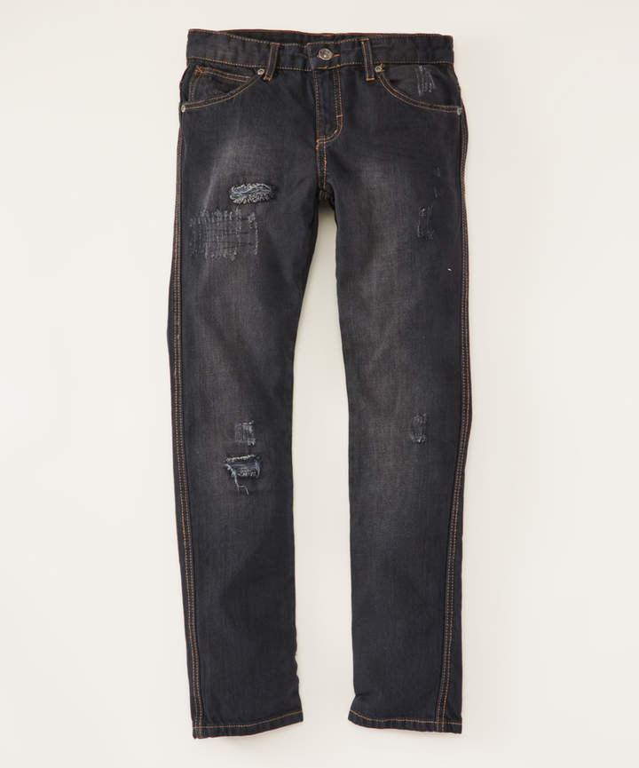 Washed Black Core Rip N Repair Jeans - Boys