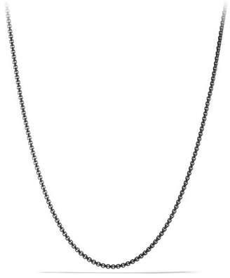 David Yurman Men's 2.7mm Small Box Chain Necklace