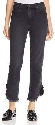 Paige Hoxton Straight Ankle Jeans in Moonlight Fog