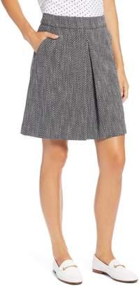1901 Pleat Front Stretch Cotton Blend Skirt
