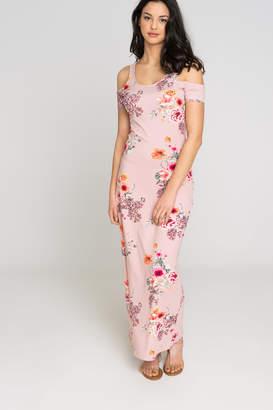 Ardene Floral Cold Shoulder Maxi Dress