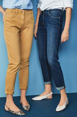 Next Womens Ochre Relaxed Skinny Jeans - Yellow