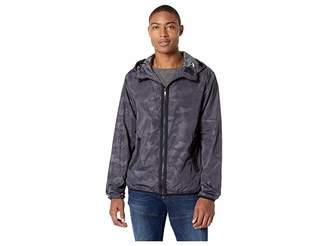 Sean John Camouflage Full-Zip Hooded Windbreaker Men's Coat