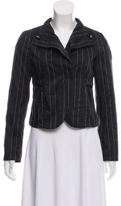 Giorgio Armani Striped Long Sleeve Jacket
