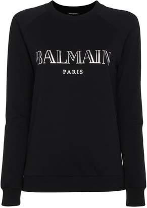 Balmain long-sleeved logo sweatshirt