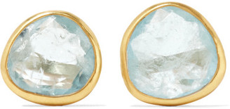 Pippa Small - 18-karat Gold Aquamarine Earrings - one size $710 thestylecure.com