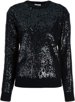 Michael Kors sequined crew-neck jumper