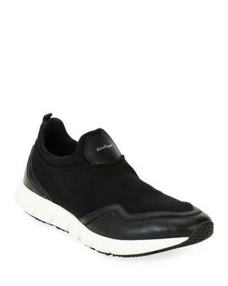 Salvatore Ferragamo Men's Neoprene & Leather Trainer Sneakers