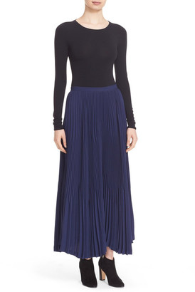 Theory Laire Winslow Crepe Pleat Maxi Skirt $455 thestylecure.com