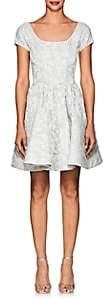Zac Posen WOMEN'S FLORAL JACQUARD MINI COCKTAIL DRESS