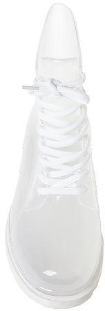 Zigi Shoes The See Thru Boot in Clear White