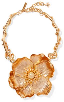 Oscar de la Renta Poppy Gold-plated Necklace