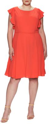 Gathered A Line Dress $168 thestylecure.com
