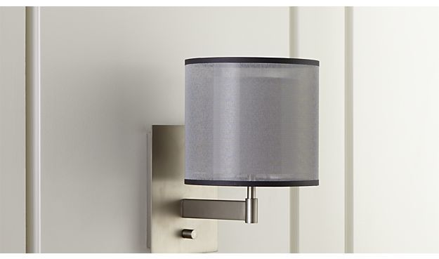 Crate & Barrel Eclipse Silver Wall Sconce
