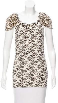 Just Cavalli Leopard Print Top