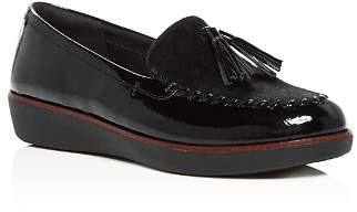 FitFlop Women's Petrina Faux Calf Hair Moccasin Loafers