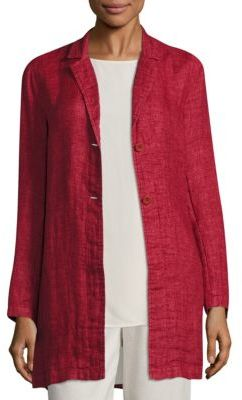 Eileen Fisher Organic Linen Long Jacket $378 thestylecure.com