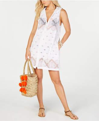 Dotti Santorini Tile Hoodie Dress Cover-Up Women's Swimsuit