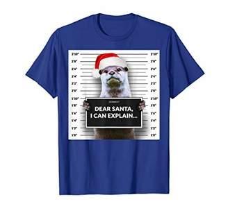 Dear Santa i can Explain Funny Christmas Otter Shirt