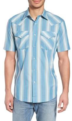 Pendleton Frontier Regular Fit Plaid Short Sleeve Sport Shirt