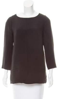 Black Fleece Bateau Neck Long Sleeve Top