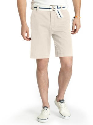 Izod Men's Saltwater Classic-Fit Solid Flat-Front Shorts