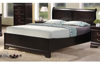 Best Quality Furniture Cappuccino Color Panel Bed, Multiple Sizes
