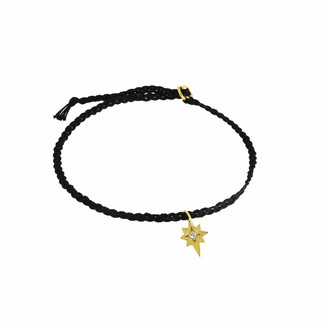 Yvonne Henderson Jewellery Tiny North Star Friendship Bracelet on Black Silk