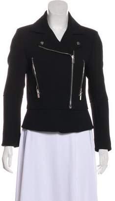 Balenciaga Notch-Lapel Moto Jacket