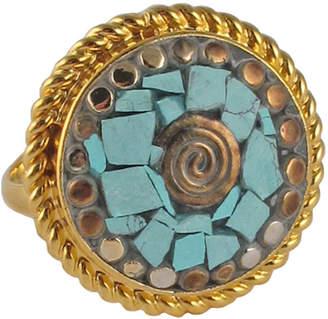 Devon Leigh Round Turquoise Ring, Size 6.5