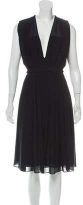 L'Agence Sleeveless V-neck Dress