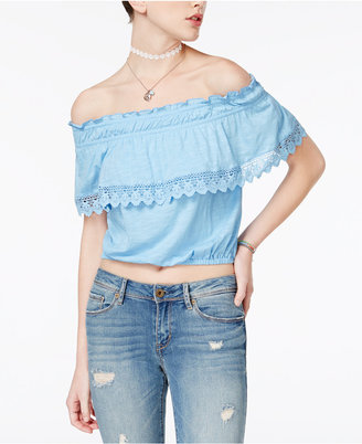American Rag Off-The-Shoulder Popover Top, Only at Macy's $29.50 thestylecure.com