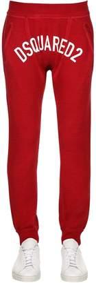 DSQUARED2 Logo Printed Cotton Jersey Sweatpants