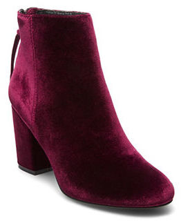 Steve Madden Cynthia Velvet Ankle Boots $129 thestylecure.com
