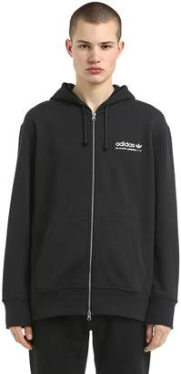 adidas Kaval Zip-Up Cotton Sweatshirt Hoodie