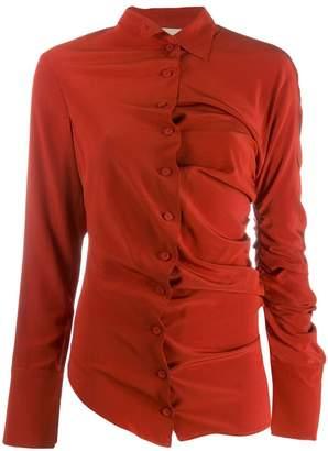 Cavallini Erika asymmetric draped shirt