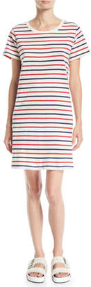 Current/Elliott The Beatnik Striped Short-Sleeve Tee Dress