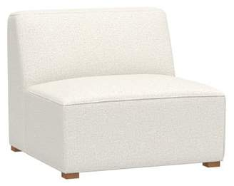 Pottery Barn Teen Riley Lounge Collection, Armless Chair, Tweed Ivory, IDS
