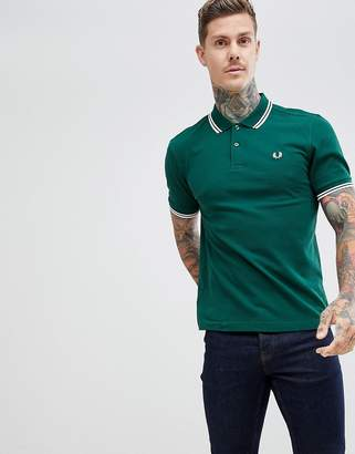 Fred Perry twin tipped polo in green