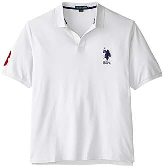 U.S. Polo Assn. Men's Big-Tall Solid Pique Polo,2X