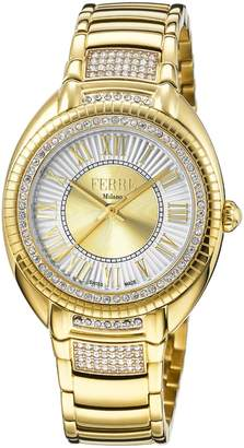 Ferré Milano Women's FM1L073M0071 Two Tone Dial with Plated Band Watch.