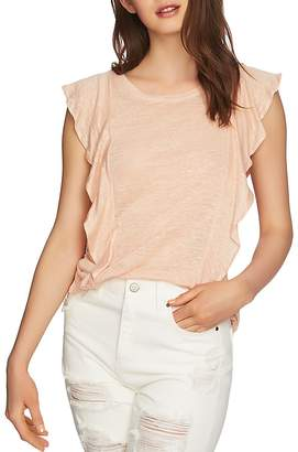 1 STATE 1.STATE Linen Ruffle Tee